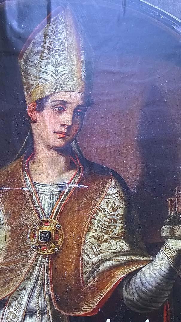Die Fresko in der Chiesa di San Paolino