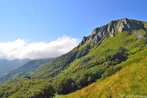 Die Gebirgslandschaft Garfagnana