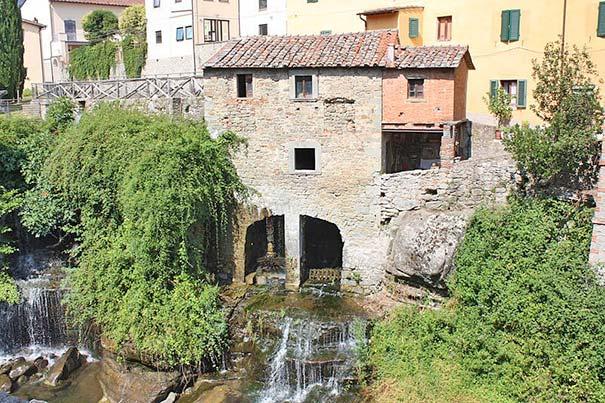 Die alte Wassermühle in Loro Ciuffenna