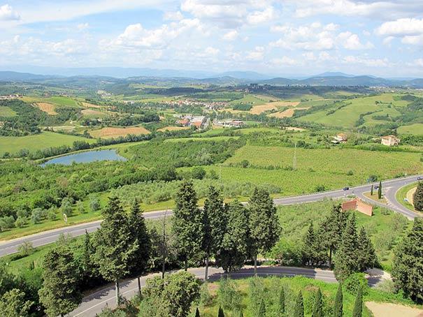 Schöne Aussicht nahe Montespertoli