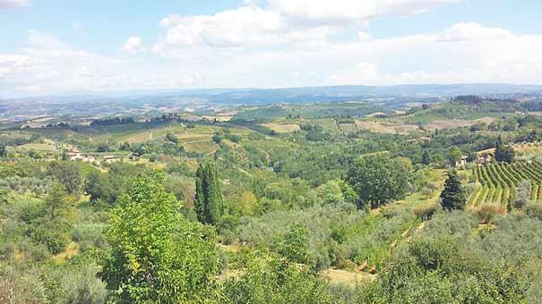 Blick auf Val d'Elsa nahe San Gimignano
