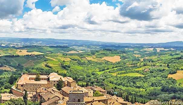 Landschaft bei San Gimignano