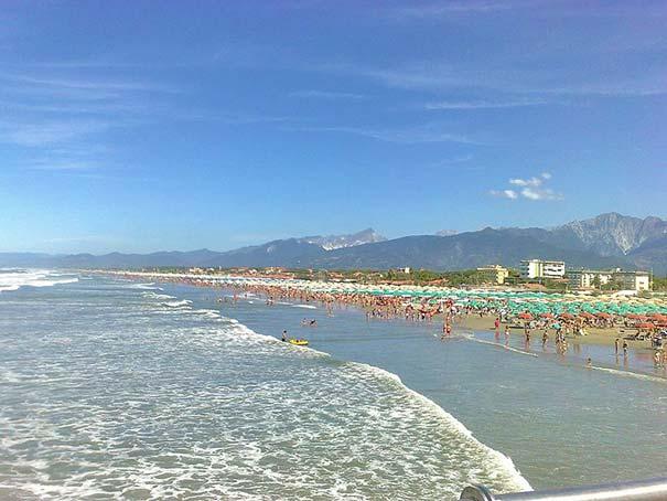 Strand in Marina di Pietrasanta