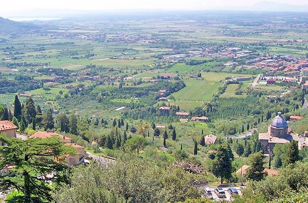Blick über Cortona