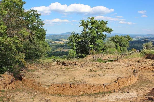 Etruskische Grabungsstätte in Sarteano