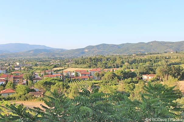 Landschaft bei Arezzo