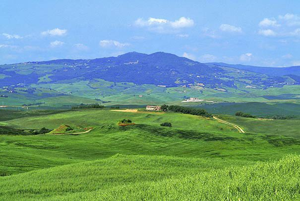 Blick auf Val di Chiana nahe Montepulciano