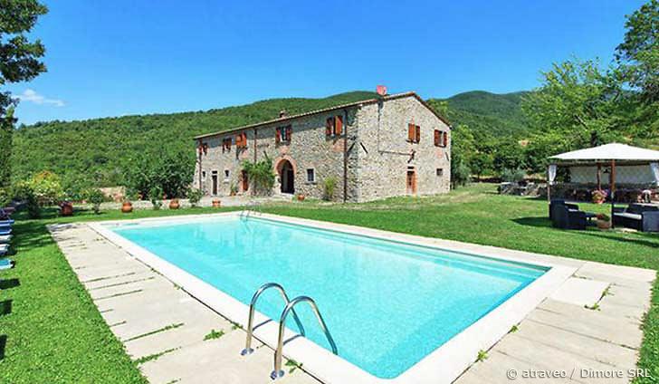 Ferienhaus im Casentino mit schönem Blick auf das Arnotal