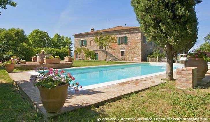 Ferienhaus in der Crete Senesi in einer charmanten Villa