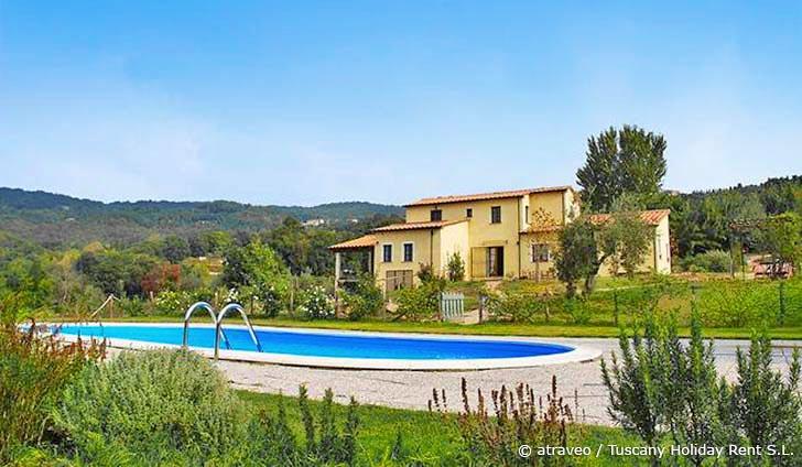 Ferienhaus in Monteverdi Marittimo für max. 14 Personen