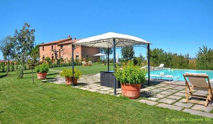Ferienwohnung im Val di Chiana auf den grünen Hügeln nahe Cortona