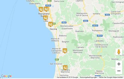 Etruskische Küste Karte