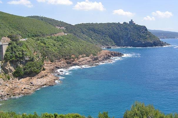 Steilküste zwischen Livorno und Quercianella
