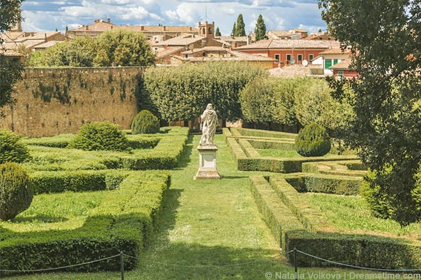 Garten Horti Leonini in San Quirico d'Orcia